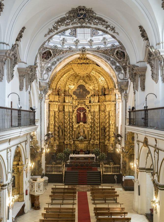 Nave central de la iglesia de San Francisco y San Eulogio.